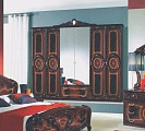 Роза шкаф 6 дверный с зеркалом орех