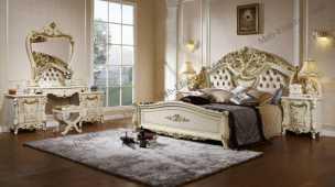 Энрика спальня комплект: кровать 180х200 + 2 тумбы прикроватные + туалетный стол с зеркалом + шкаф 4 дверный + пуф