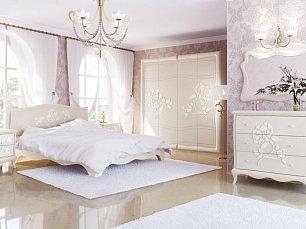 Астория спальня комплект: кровать+2-дверный шкаф+тумба прикроватная+полка П2+стол СТ1
