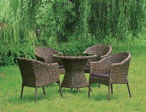 Комплект мебели 4+1 RT-A52 Brown  4Pcs иск. ротанг