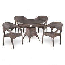 Комплект мебели 4+1 T220BG/Y90CG-W1289 Pale 4Pcs иск. ротанг