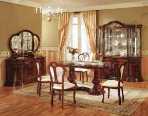Роза столовая комплект: витрина 4 дв.+стол обеденный+6 стульев+буфет+зеркало (Л.Д)