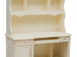 Белый Цветок стол компьютерный с надставкой 8801-В