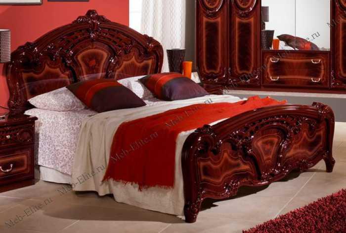 Роза кровать 160х200 могано