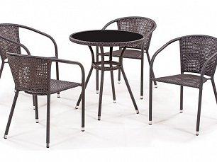 Комплект мебели 4+1 T282ANS/ Y137B-W51-4PCS иск. ротанг