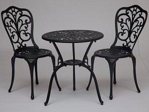 Жардин комплект Романс: стол + 2 стула черный