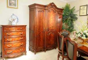 Луи 15 (Louis XV) шкаф 3 дверный орех