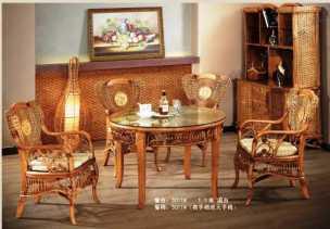 Мик ротанг комплект MK-3450: обеденный стол 100х100 + 4 стула