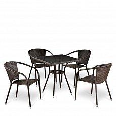 Комплект мебели 4+1 T283BNT-W2390/Y-137C-W51 Brown 4Pcs иск. ротанг
