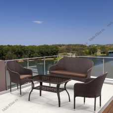 Комплект мебели (иск.ротанг) 2+1+1 S20B-2/ S20B-1/ ST20B