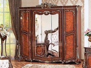 Монреаль шкаф 5 дверный с зеркалом радика глянец