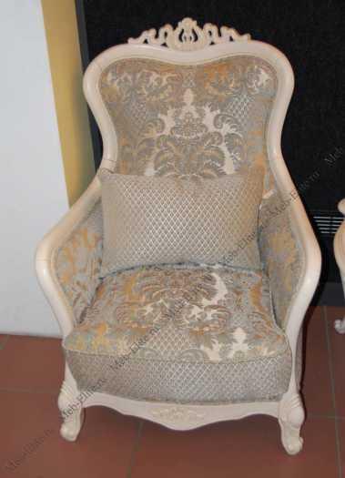 Карпентер 230 кресло А (ткань LS418-1 /LS419-1) белое