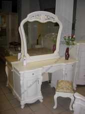 Афина белая с жемчугом стол туалетный с/з