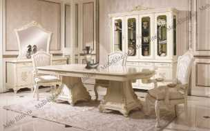 Анетта столовая комплект: витрина 4 дверная+буфет с/з