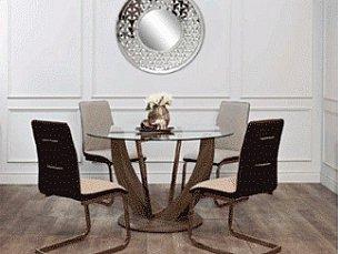 Гарда обеденная группа: стол обеденный 122х122 30F-908  + 4 стула 30C-955