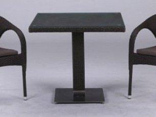 Комплект мебели 2+1 T605SWT/Y290W52-W53 Brown 2Pcs иск. ротанг