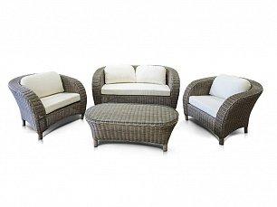 Римини комплект:диван 2 местный+стол журнальный+2 кресла иск.ротанг
