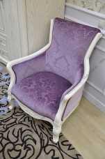 Карпентер 230 кресло чайное (ткань 603-10A/603-10C) белое