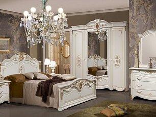 Джоконда  2Д1 (SL) спальня комплект: кровать 180+тумба прикроватная 2 шт.+комод с/з+шкаф 4 дверный (бежевый)