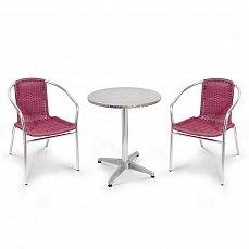Комплект мебели 2+1 LFT-3099F/T3127-D60 Bordo 2Pcs алюминий