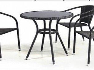 Комплект мебели 3+1 T282ANS/Y137C-W53 Brown 3Pcs иск. ротанг