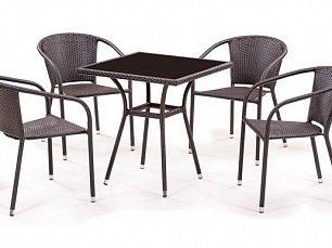 Комплект мебели 4+1 T282BNS/ Y137C-W51-4PCS иск. ротанг