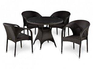 Комплект мебели 4+1 Т220CВТ/ Y290В-W52 иск. ротанг