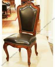 Луи 15 (Louis XV) стул с кожей (0404) 721 орех