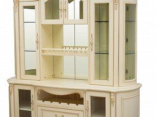 Белый Цветок витрина 4 дверная/бар 8803