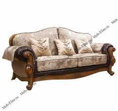 Карпентер 230-1  диван С 3 местный раскладной (Орех,  ткань JY5680-3 /JY6118-3/2857кожа/JY6120-3/D10033C-3GF