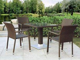 Комплект мебели 4+1 T606SWT/A2001B-W53 Brown 4Pcs иск. ротанг