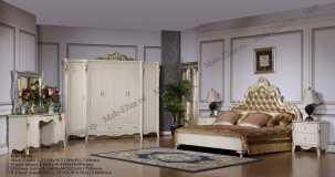 Элиза 3280 спальня комплект: кровать 180, тумба - 2 шт, стол туал, шкаф 6-ти дв