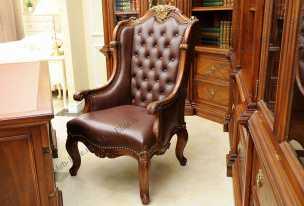 Луи 15 (Louis XV) кресло рабочее 521C орех