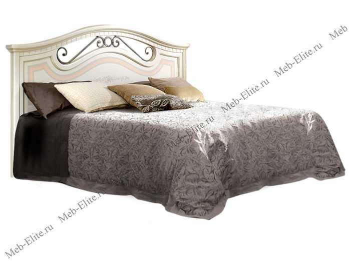 Анна кровать 160х200 с одной спинкой и с подъемным механизмом штрих лак