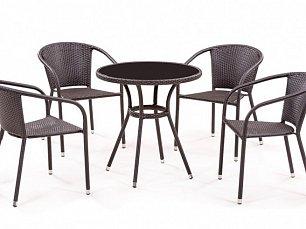 Комплект мебели  4+1 T282ANS/Y137C-W53 Brown 4Pcs иск. ротанг