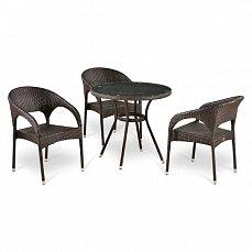 Комплект мебели 3+1 T283ANT/Y90С-W51-3PCS иск. ротанг