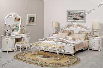 Афина белая с золотом спальня