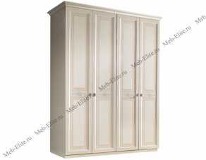 Анна шкаф 4 дверный без зеркал штрих лак