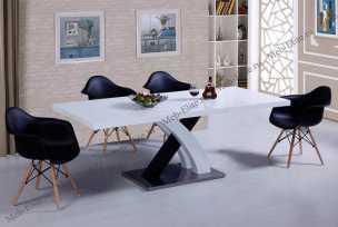ЕСФ столовая комплект: стол обеденный 160/220х90 DT-75  + стулья Y1685 4 шт.