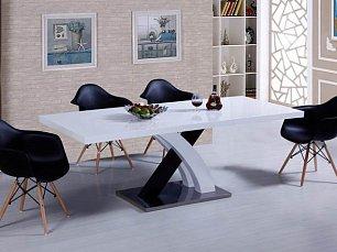 ЕСФ столовая комплект: стол обеденный 160/220х90 DT-75  + стулья Y1685 4 шт. глянец