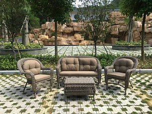 Комплект мебели 2+1+2 LV520BB Beige/Beige/ иск. ротанг