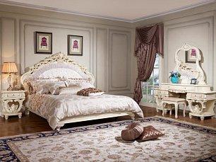 Офелия спальня комплект кровать 180+2 тумбы+стол туалетный +зеркало+пуф)