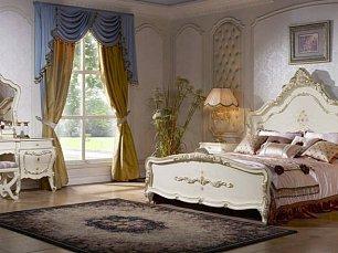 Дольче Вита спальня комплект: кровать 180х200 + 2 тумбы прикроватные + туалетный стол с зеркалом + 5 дверный шкаф (без пуфа)