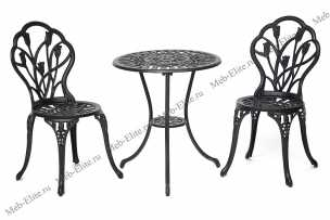 Жардин комплект Вальс Цветов: стол + 2 стула черный