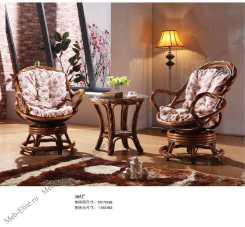 Мик ротанг комплект MK-3462: чайный столик 60х60 + 2 кресла
