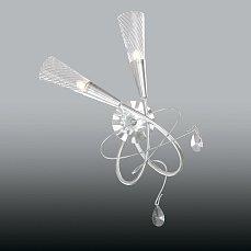 AEREO Бра Арт.711629 (SB1105/2L) 2х40W G9 Silver foil