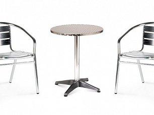 Комплект мебели 2+1 LFT-3059/T3127-D60 Silver 2Pcs алюминий