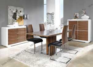 ЕСФ столовая комплект: стол обеденный 160/200х90 Дюпен DT-02 + стулья 1004 4 шт.