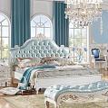 Флорентина спальня комплект: кровать 180х200 арт.8889 + 2 тумбы прикроватные арт. 88-C + туалетный стол арт. 8881 + пуф + шкаф 4 дверный