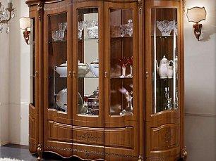 Аллегро SL витрина 5 дверная орех